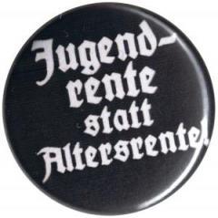 """Zum 50mm Magnet-Button """"Jugendrente statt Altersrente"""" für 3,00 € gehen."""