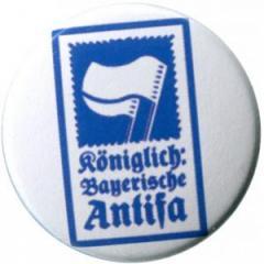 """Zum 50mm Magnet-Button """"Königlich Bayerische Antifa (KBA)"""" für 3,00 € gehen."""