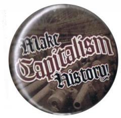 """Zum 50mm Magnet-Button """"Make Capitalism History"""" für 3,00 € gehen."""