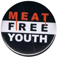 """Zum 50mm Magnet-Button """"Meat Free Youth"""" für 2,92 € gehen."""