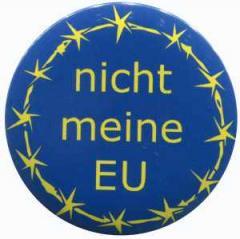 """Zum 50mm Magnet-Button """"nicht meine EU"""" für 3,00 € gehen."""