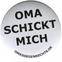 """Zum 50mm Magnet-Button """"Oma schickt mich"""" für 2,92 € gehen."""