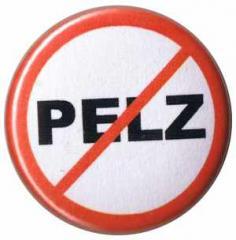 """Zum 50mm Magnet-Button """"Pelz (durchgestrichen)"""" für 2,92 € gehen."""
