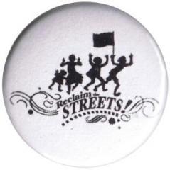 """Zum 50mm Magnet-Button """"Reclaim the Streets"""" für 2,92 € gehen."""
