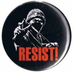 """Zum 50mm Magnet-Button """"Resist!"""" für 3,00 € gehen."""