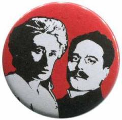 """Zum 50mm Magnet-Button """"Rosa Luxemburg / Karl Liebknecht"""" für 2,92 € gehen."""