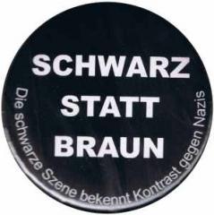 """Zum 50mm Magnet-Button """"Schwarz statt Braun"""" für 3,00 € gehen."""