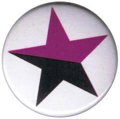 """Zum 50mm Magnet-Button """"schwarz/lila Stern"""" für 3,00 € gehen."""