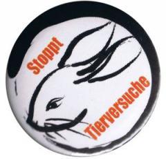 """Zum 50mm Magnet-Button """"Stoppt Tierversuche"""" für 2,92 € gehen."""