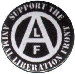"""Zum 50mm Magnet-Button """"support the Animal Liberation Front (schwarz)"""" für 2,92 € gehen."""