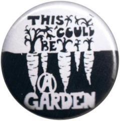 """Zum 50mm Magnet-Button """"This could be a garden"""" für 3,00 € gehen."""