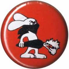 """Zum 50mm Magnet-Button """"Vegan Rabbit - Red"""" für 3,00 € gehen."""