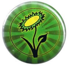 """Zum 50mm Magnet-Button """"Vegane Blume"""" für 3,00 € gehen."""