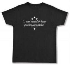 """Zum Fairtrade T-Shirt """"... und natürlich kann geschossen werden"""" für 16,57 € gehen."""