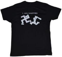 """Zum Fairtrade T-Shirt """"1. Mai Nazifrei"""" für 17,00 € gehen."""