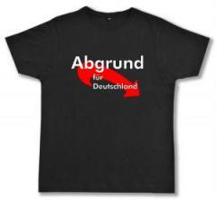 """Zum Fairtrade T-Shirt """"Abgrund für Deutschland"""" für 16,57 € gehen."""