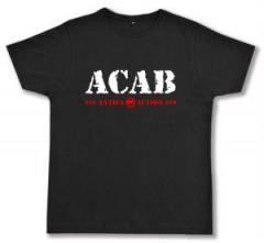 """Zum Fairtrade T-Shirt """"ACAB Antifa Action"""" für 16,57 € gehen."""