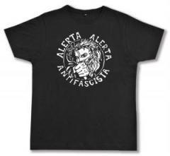"""Zum Fairtrade T-Shirt """"Alerta Alerta Antifascista"""" für 16,57 € gehen."""