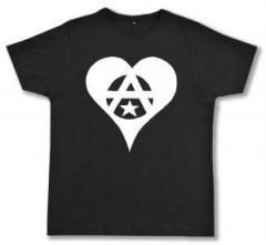 """Zum Fairtrade T-Shirt """"Anarchie Herz"""" für 17,00 € gehen."""