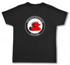 """Zum Fairtrade T-Shirt """"Antifaschistische Aktion (Enten)"""" für 17,00 € gehen."""