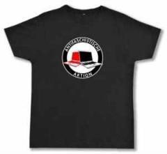 """Zum Fairtrade T-Shirt """"Antifaschistische Aktion (Notebooks)"""" für 18,52 € gehen."""