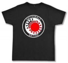 """Zum Fairtrade T-Shirt """"Antivirale Aktion"""" für 16,57 € gehen."""