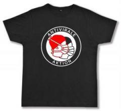 """Zum Fairtrade T-Shirt """"Antivirale Aktion - Mundmasken"""" für 17,00 € gehen."""