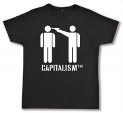 """Zum Fairtrade T-Shirt """"Capitalism [TM]"""" für 17,00 € gehen."""