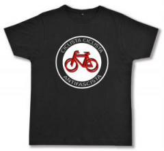 """Zum Fairtrade T-Shirt """"Ciclista Ciclista Antifascista"""" für 17,00 € gehen."""