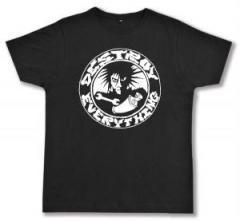"""Zum Fairtrade T-Shirt """"destroy everything"""" für 16,57 € gehen."""