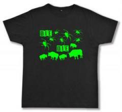 """Zum Fairtrade T-Shirt """"Die Spinnen Die Bullen (grün)"""" für 17,00 € gehen."""