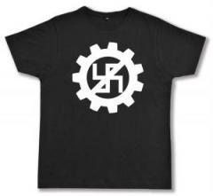 """Zum Fairtrade T-Shirt """"EBM gegen Nazis"""" für 17,00 € gehen."""