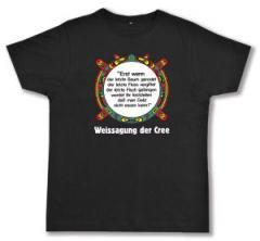 """Zum Fairtrade T-Shirt """"Erst wenn der letzte Baum gerodet...."""" für 21,45 € gehen."""