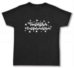 """Zum Fairtrade T-Shirt """"Fantastisch Antifaschistisch (weiß)"""" für 16,57 € gehen."""
