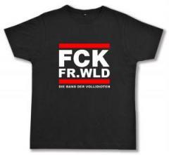 """Zum Fairtrade T-Shirt """"FCK FR.WLD"""" für 17,00 € gehen."""