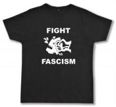 """Zum Fairtrade T-Shirt """"Fight Fascism"""" für 16,57 € gehen."""