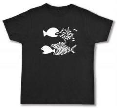 """Zum Fairtrade T-Shirt """"Fische"""" für 16,57 € gehen."""