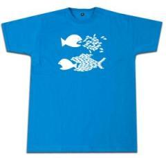 """Zum Fairtrade T-Shirt """"Fische (blau)"""" für 16,57 € gehen."""