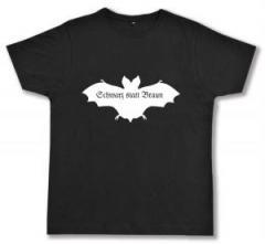 """Zum Fairtrade T-Shirt """"Fledermaus - schwarz statt braun"""" für 16,57 € gehen."""