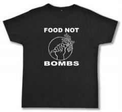 """Zum Fairtrade T-Shirt """"Food Not Bombs"""" für 16,57 € gehen."""