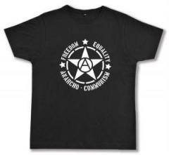 """Zum Fairtrade T-Shirt """"Freedom - Equality - Anarcho - Communism"""" für 17,00 € gehen."""