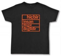 """Zum Fairtrade T-Shirt """"hicbir insan illegal degildir"""" für 17,00 € gehen."""