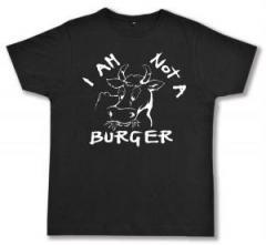 """Zum Fairtrade T-Shirt """"I am not a burger"""" für 16,57 € gehen."""