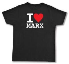 """Zum Fairtrade T-Shirt """"I love Marx"""" für 17,00 € gehen."""