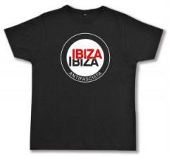 """Zum Fairtrade T-Shirt """"Ibiza Ibiza Antifascista (Schrift)"""" für 17,00 € gehen."""