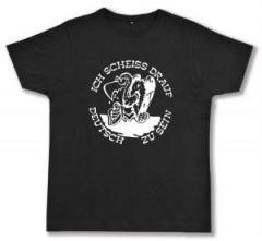"""Zum Fairtrade T-Shirt """"Ich scheiß drauf deutsch zu sein"""" für 17,00 € gehen."""