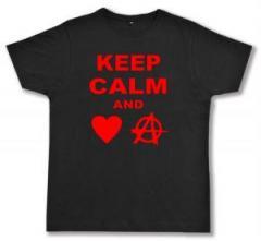 """Zum Fairtrade T-Shirt """"Keep calm and love anarchy"""" für 17,00 € gehen."""