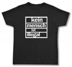 """Zum Fairtrade T-Shirt """"kein mensch ist illegal"""" für 16,57 € gehen."""