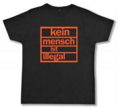 """Zum Fairtrade T-Shirt """"Kein Mensch ist illegal (orange)"""" für 17,00 € gehen."""