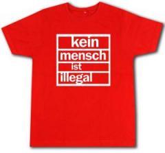 """Zum Fairtrade T-Shirt """"Kein Mensch ist Illegal (weiß/rot)"""" für 17,00 € gehen."""